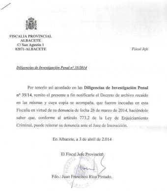 Contestacion Fiscalia Albacete Cuenta