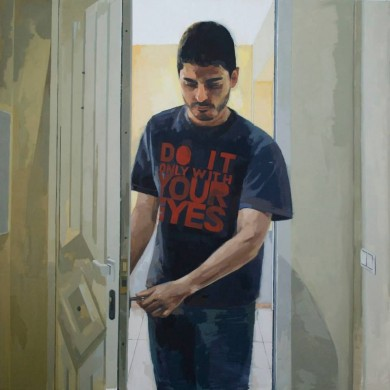 """Alfonso"" Óleo sobre tabla 120x120cm. 2014"